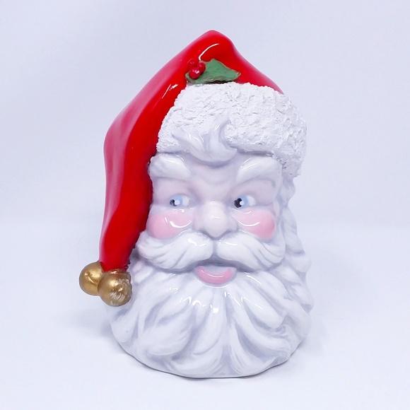 Vintage Santa Head Vase Planter by Holland Mold